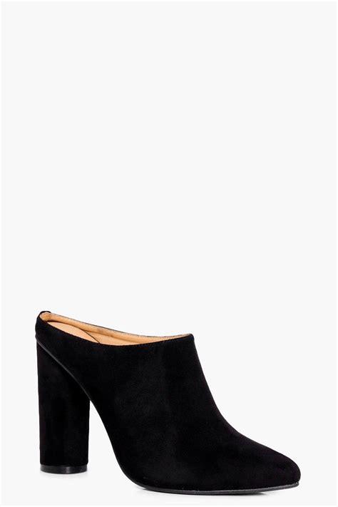 boohoo womens cylinder heel closed toe mule ebay