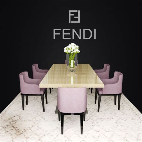fendi casa dining table 3d fendi casa dining cgtrader
