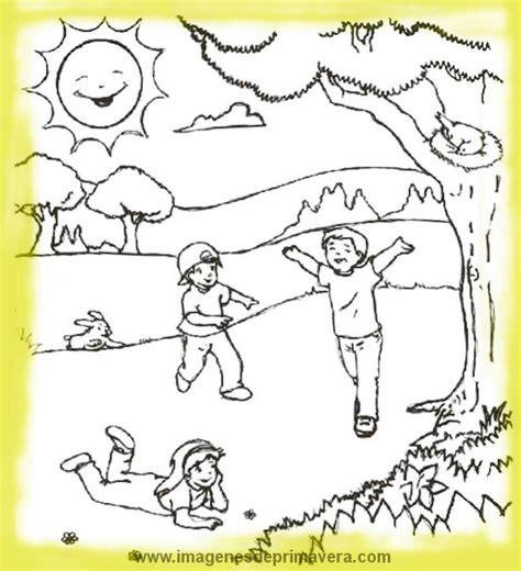 imagenes para pintar sobre la primavera dibujos para colorear sobre medio ambiente