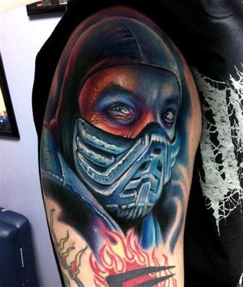 sub tattoo mortal kombat subzero tattoos mk sub zero mortal