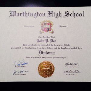 Buy A Fake High School Diploma Transcripts Online Diploma Seal Template
