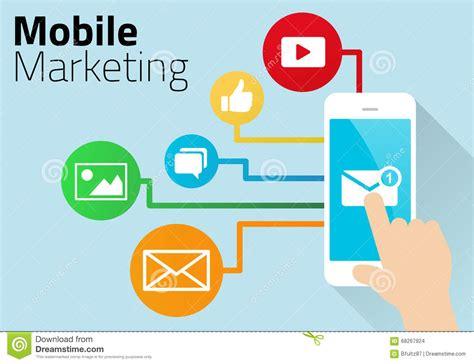 free mobile market mobile marketing diagram stock vector illustration of