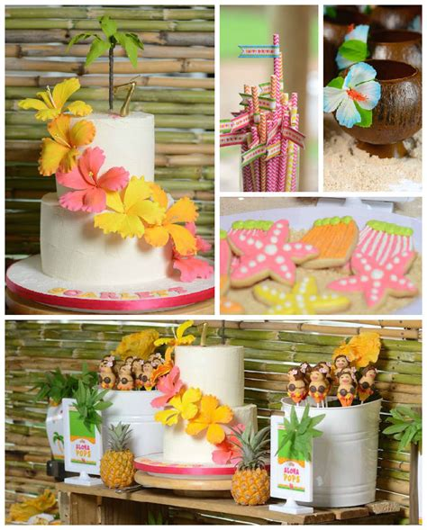 christmas in hawaii themed party kara s ideas hawaiian luau themed birthday