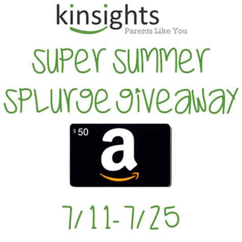 Amazon Giveaway Links - kinsights super summer splurge giveaway enter online sweeps