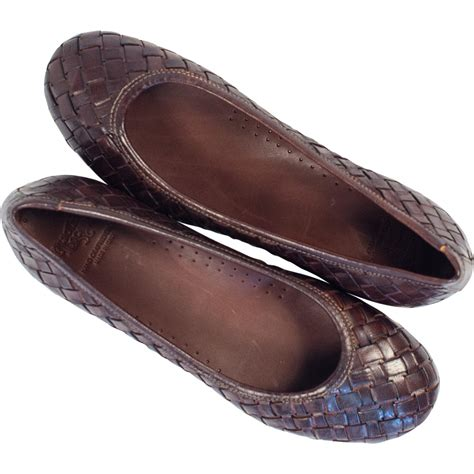 brown flats womens shoes marianna dip dyed brown leather woven ballerina flats