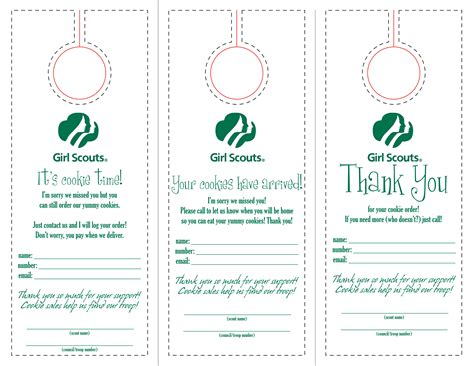 Modified Motherhood Free Downloads Scout Door Hanger Template