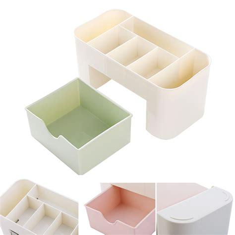 Rak Kosmetik Plastik kotak organizer kosmetik kotak serbaguna dengan