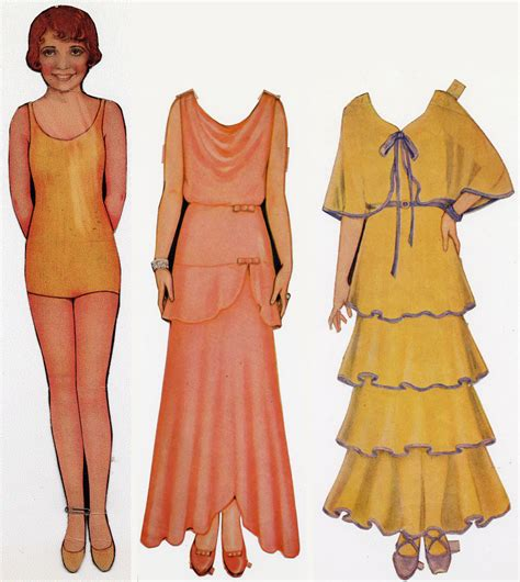 Dress Della Dc paper dolls and ready to wear brought flapper fashion to