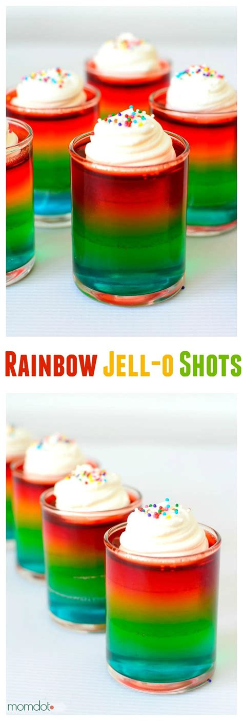 layered rainbow shots how to make rainbow jello shots momdot