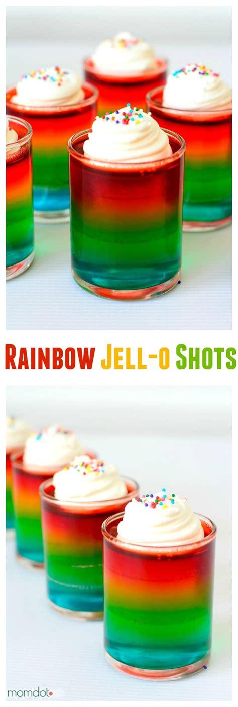 layered rainbow shots how to make rainbow jello shots momdot