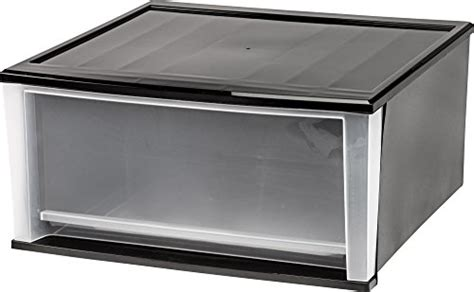 Large Plastic Storage Drawers by Large Plastic Storage Drawers Iris 3 Drawer Wide Cart Black