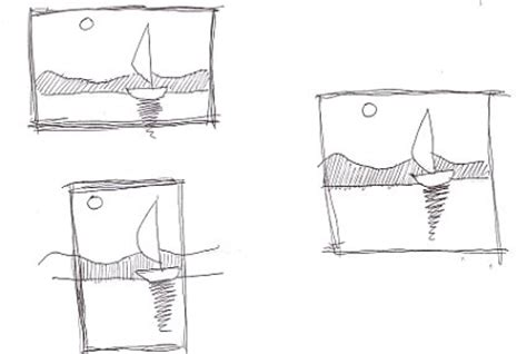 thumbnail layout definition draw a thumbnail sketch