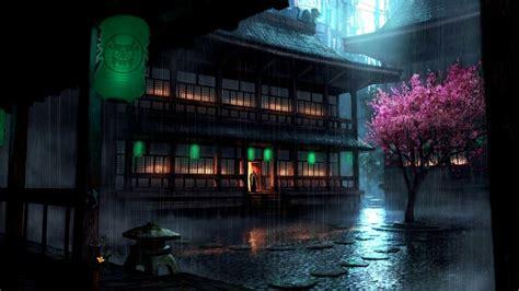 wallpaper anime for wallpaper engine wallpaper engine anime backyard rain update cg youtube