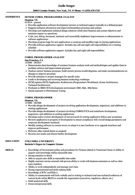 rpg programmer sle resume lead business analyst cover