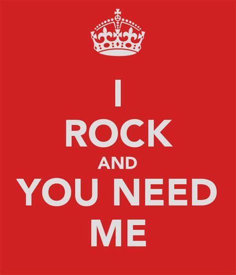 I Am Rock i rock and you need me poster michaela mac