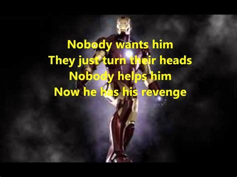 theme song iron man lyrics to iron man theme song youtube