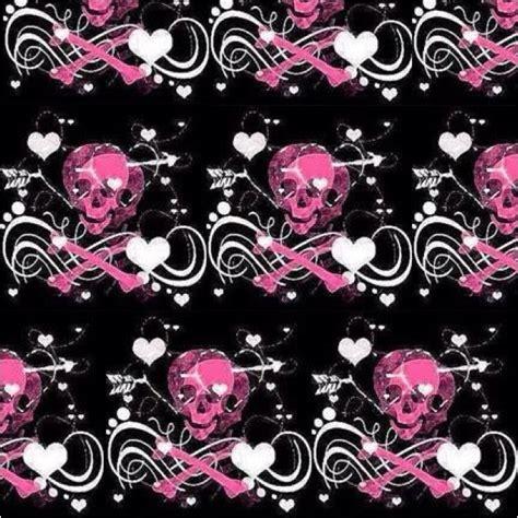 wallpaper gothic girly pink skulls wallpapers pinterest