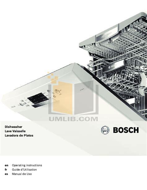 Download Free Pdf For Bosch She7er55uc Dishwasher Manual