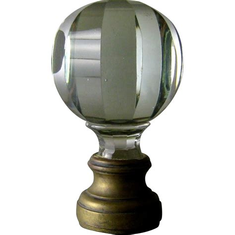 Glass L Finial by Cut Glass Newel Post Finial 19thc Bronze Mounts From