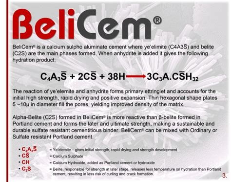 ye elimite hydration belicem high belite csa cement 2015 hr