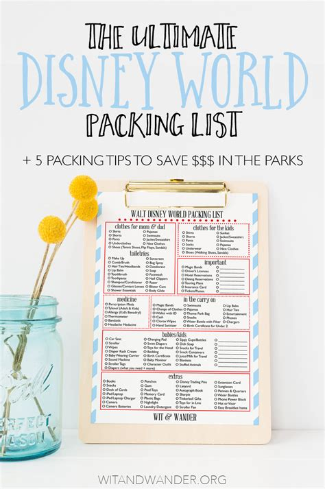 Money Saving Travel Tips For January 2007 by The Ultimate Disney World Packing List Expert Packing