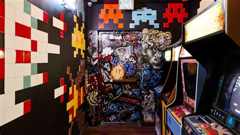 theme hotel free web arcade nightlife nostalgia the 80s bloom at the line hotel s