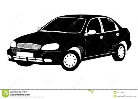 cartoon car black and white black and white car stock photos image 32723753