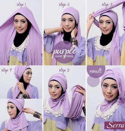 video tutorial jilbab pesta modern cara memakai jilbab panjang simpel elegan terbaru 2015