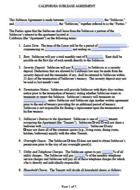subtenant agreement template subtenant agreement template sletemplatess