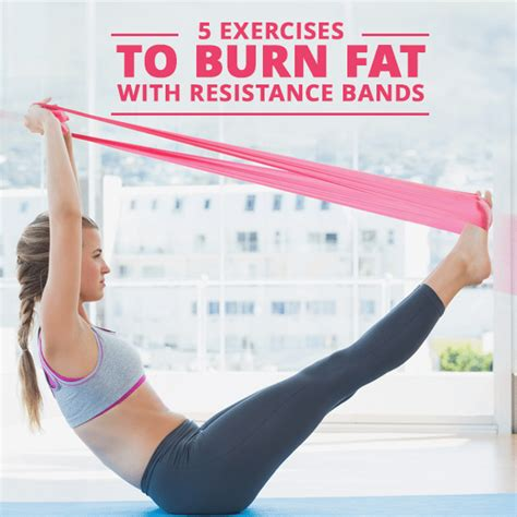 5 exercises to burn with resistance bands