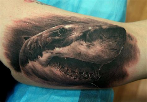 shark bicep best tattoo design ideas