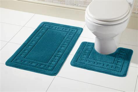 Rubber Toilet Mat by Miami Bath Mat Set 2 Non Slip Rubber Pedestal Mat