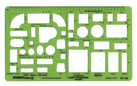 alvin td1155 home furnishing drafting template furniture