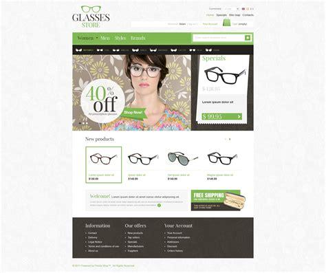 The Gaze Glasses Store Prestashop Theme 36979 Free Templates For Optical Shop