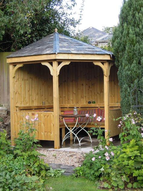corner seating arbour  wooden workshop oakford devon