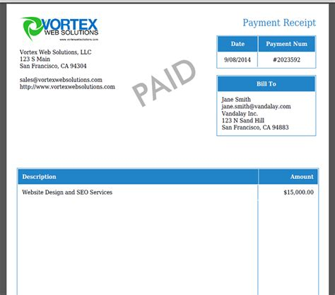 create a receipt of payment create customer receipts from stripe charges webmerge
