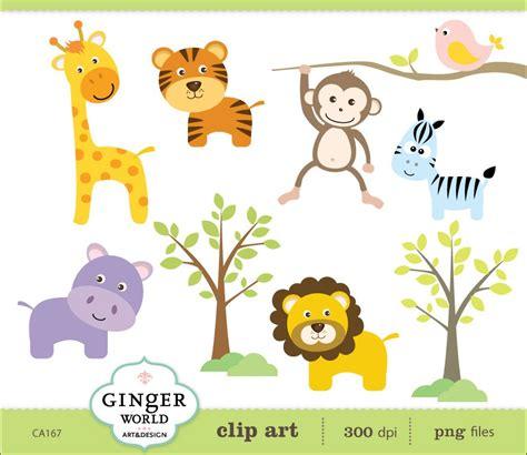 safari jungle baby animal clip art safari animal jungle clip art monkey lion tiger zebra giraffe