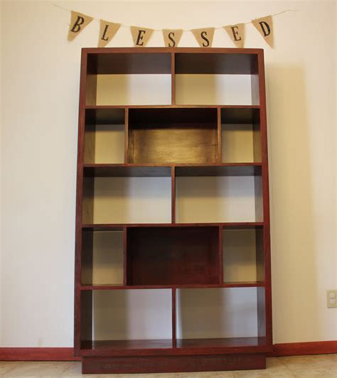 bookcase bookshelf distressed wood by yoderswoodedlot