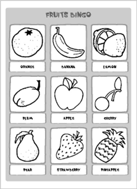 Duck Egg Armchair English Vocabulary Printables Bingo Cards