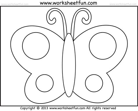 butterfly coloring page for kindergarten free coloring pages of tracing 10