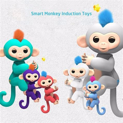 Interactive Baby Monkeys Smart Colorful Fingers Induction Toys fingerlings baby monkey interactive baby monkeys colorful smart finger monkeys smart