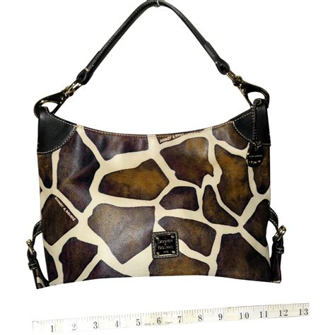 Catherine Rapettis Large Printed Tote In Girrafe by Vintage Dooney Bourke Giraffe Print Series Large Tote 20