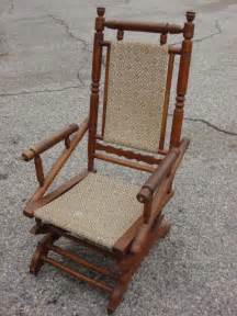 Antique upholstered wood rocking chair myideasbedroom com
