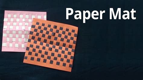 How To Make Mat With Paper - how to make mat with paper easy paper crafts arts for