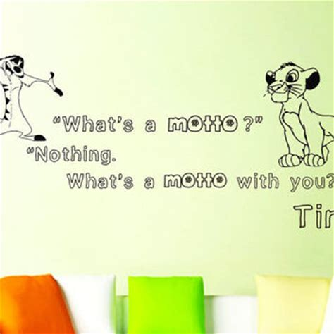 Hakuna Matata Wall Stickers shop lion king wall quotes on wanelo