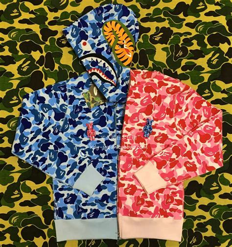Xiaom Mi 4 Bape Shark Camo Pattern The Caver Hardcase usd 806 35 bape camo shark hoodie abc pink blue green camo shark ultra limited like hiroshima