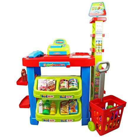 play toys childrens supermarket shop grocery pretend play set 163 24 99 oypla