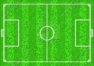 football pitch soccer field vector image vector