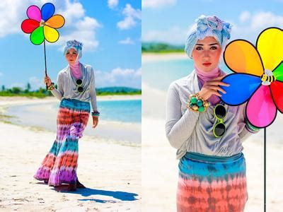 Jilbab Instan Yang Lagi Hits ini dia 6 trik til modis dengan ke pantai