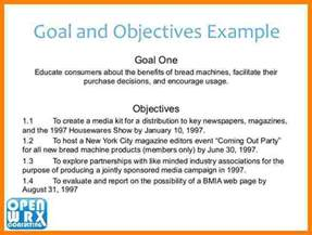 goals and objectives template 9 business plan objectives introduction letter